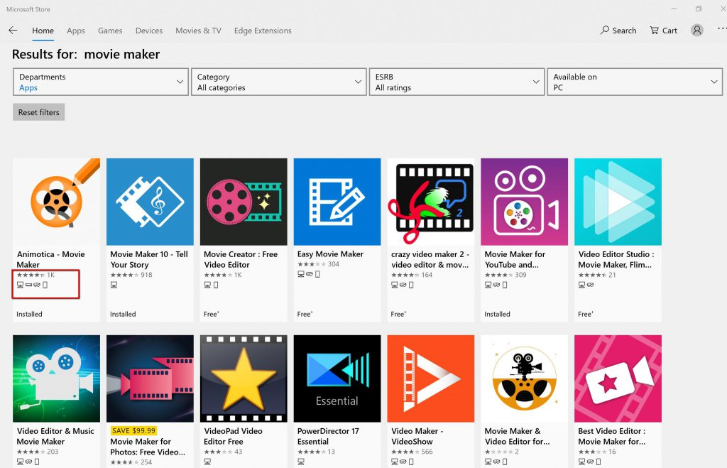 Top Video Editors in Microsoft Store