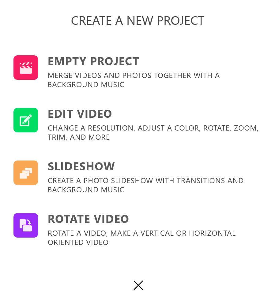Create Project in Animotica