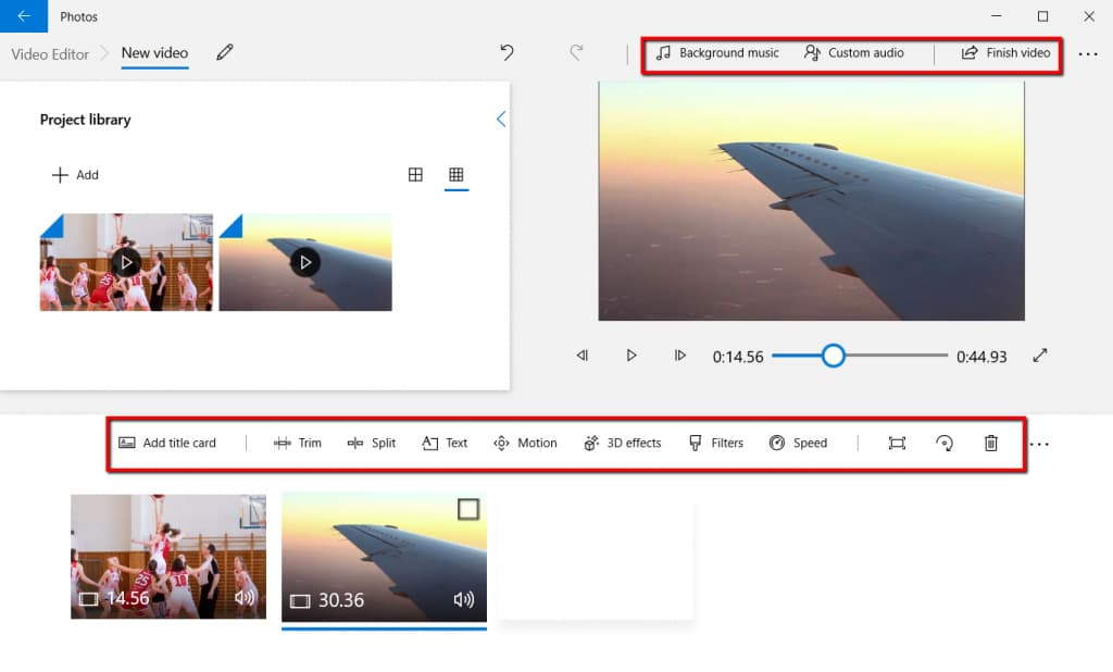 Edit Video in Microsoft Photos