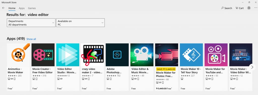 Microsoft Store video editors - Animotica