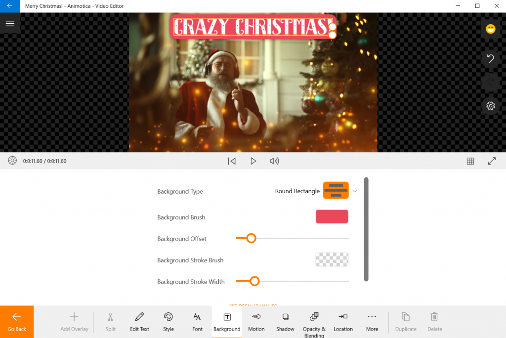 Add text overlay to your Christmas eCard