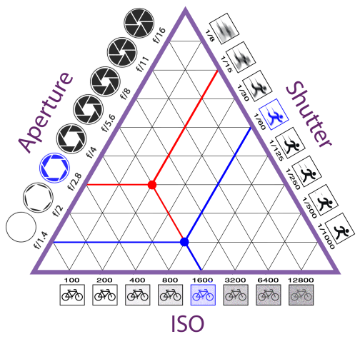 Exposure Triangle: ISO, Aperture, Shutter Speed
